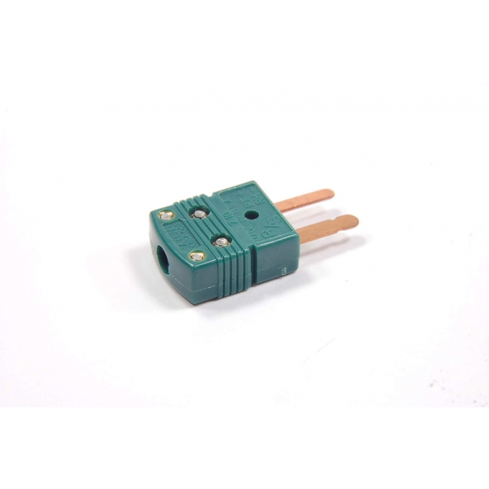 OMEGA ENGINEERING - SMP-R/S-M - Connector, thermocoupler. Mini male jack. S-type. Green.