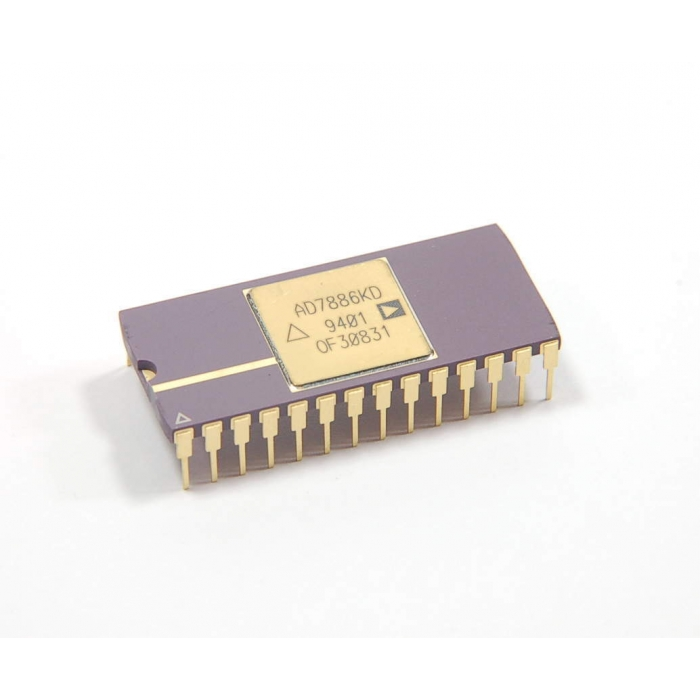 Analog Devices Inc - AD7886KD - IC, A/D Converter. Sampling 12 Bit. 28 Cdip.