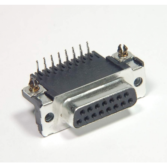 AMP INC - 747837-3 - Connector, D-Sub. DB15 (F) RA. Package of 2.