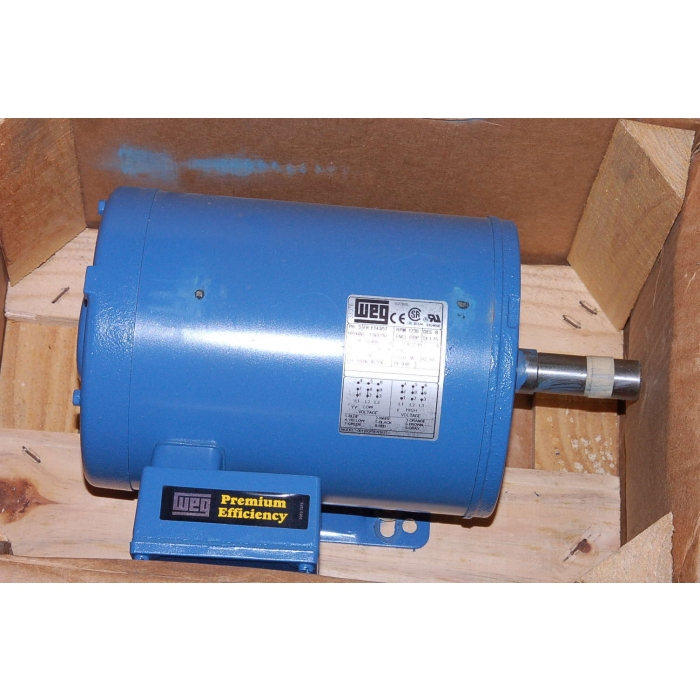 WEG / MaxiRex - 001180P3EN143T - Motors, AC. Supply: 208-230/460VAC 3Ph 1HP.