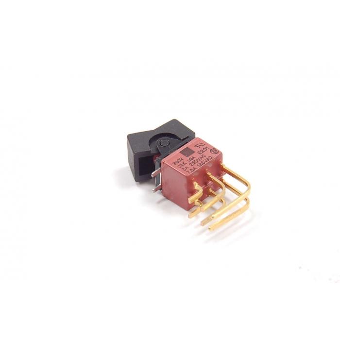 C & K Components - E201J1V5GE2 - Switch, rocker. DPDT 7.5Amp 125VAC.