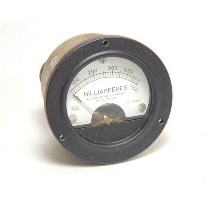 HICKOK ELECTRIC - MR26W500ACMAR - Meter. 0-500 Milliamps AC 2.7