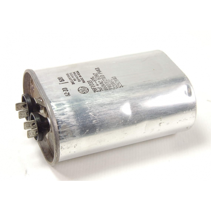 General Electric - 26F1033 - Capacitor, oil-filled. 5uF 660VAC.
