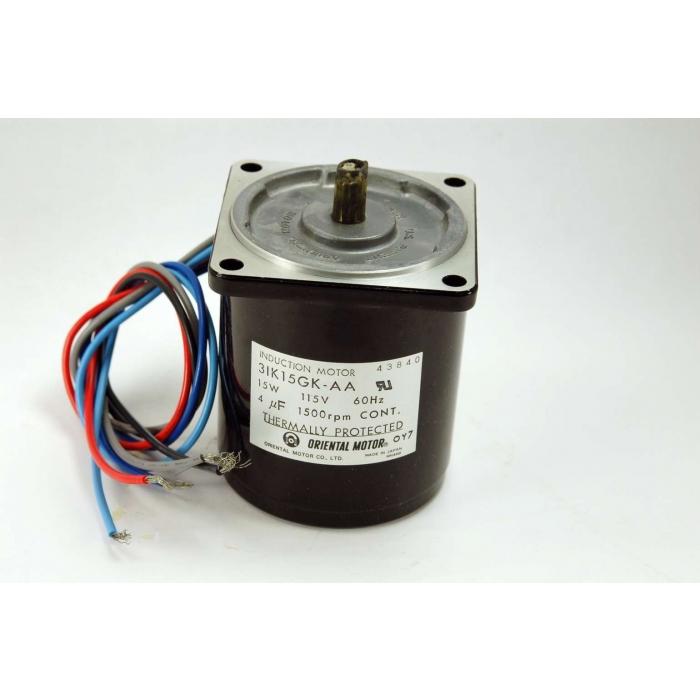 Oriental Motors - 3IK15GK-AA - Motor, AC. Induction. 15 watt.
