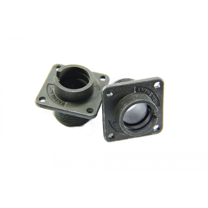 Amphenol - 97-3102A-14S-850 - Connector, circular. Flange mount only with C-Clip.