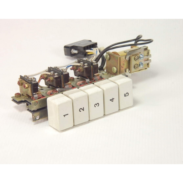 MAXI-SWITCH -  5 Station Switch Bank, 311SM4-T SPDT Switches,  201355-1 Connector, Magnecraft 11-X-609 Solenoid.