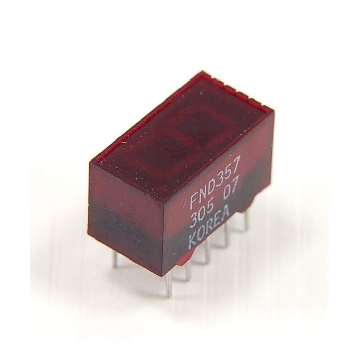 FND357  OPTO DISPLAY 7SEGMENT RED LED    FND357C