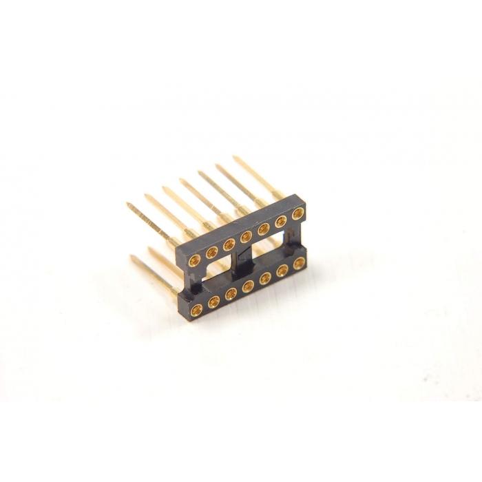 AUGAT - 814AG10F2 - IC socket. Dip 14 pin WW.