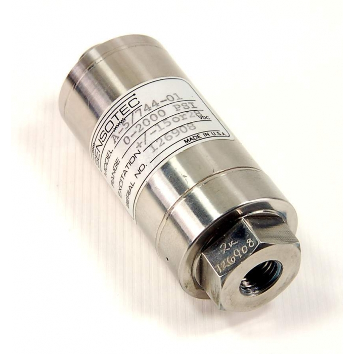 SENSOTEC - A5/744-1 - Transducers, pressure. 0-200PSI, +/ -15 or 28VDC.