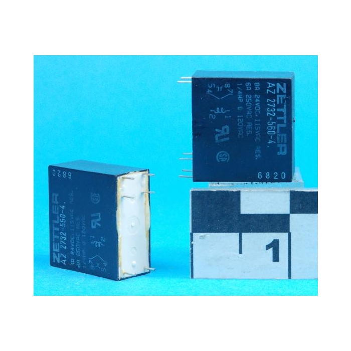 Relay 24VDC; 8A; DPDT; Zettler