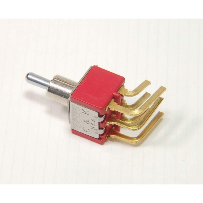 C & K Components - 7205MY9AGE - Switch, toggle. DPDT 5A 120VAC.