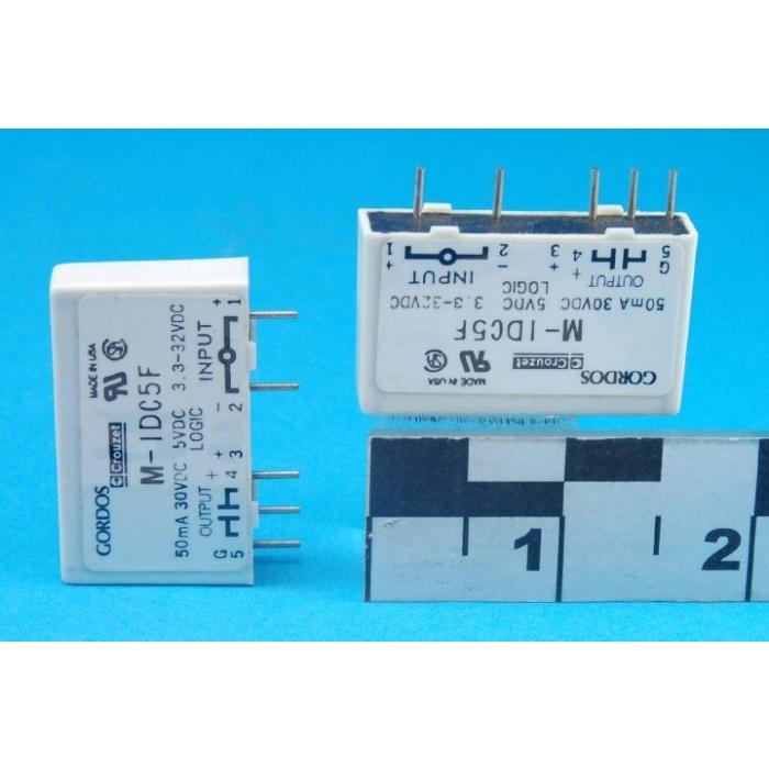 GORDOS/CROUZET - M-IDC5F - Relay, SSR. I/O Module. 5VDC Logic.