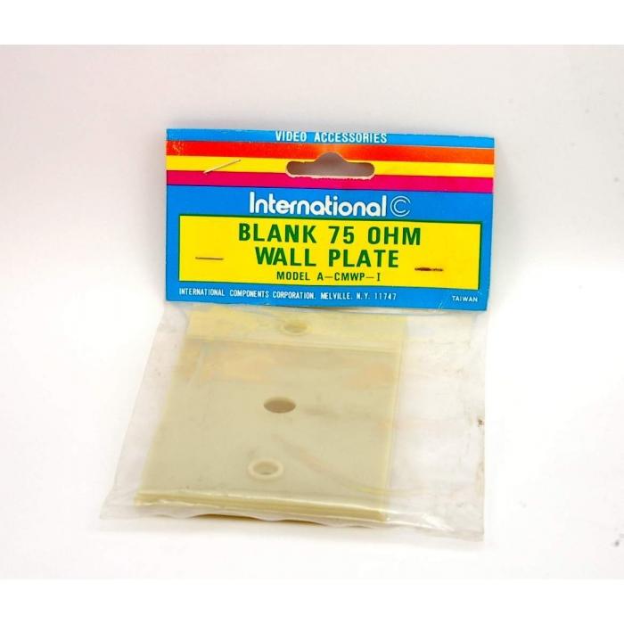 Unidentified MFG - 8-617 - blank 75-ohm wall plate