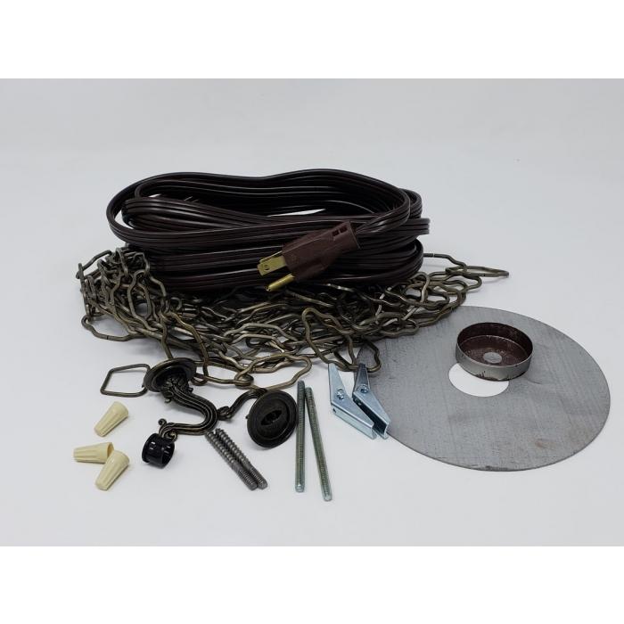 LESLIE LOCKE - DFS-1, Ceiling Fan Swag Kit, good for hanging lamps/lights or track lighting.