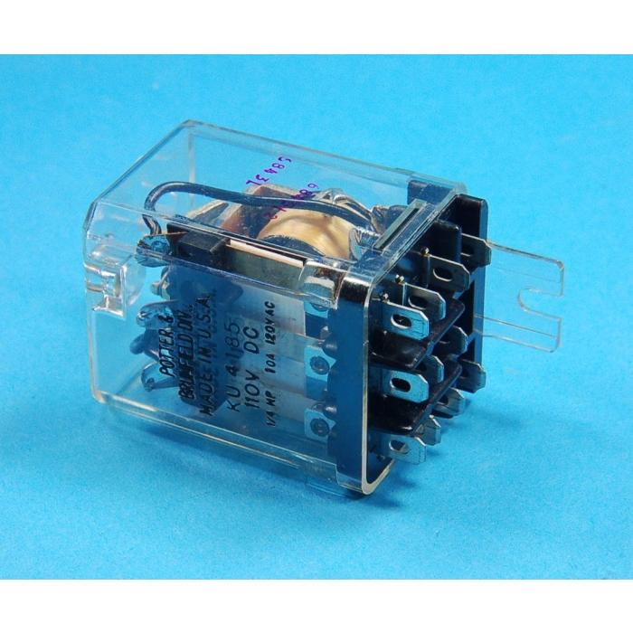 Potter & Brumfield - KU4185 - Relay, DC. 3PDT 10Amp 110VDC.