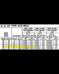 International Rectifier IR - KY10DPF - Voltage surge suppressor. 260VRMS.