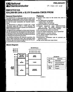 National Semiconductor Corp - NMC27C512AQ-200 - IC, Memory. EPROM.
