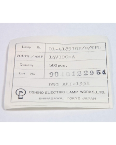 OSHINO - OL-4185 IEB/E/TPL - Lamps. Subminiature 14V 100mA. Package of 10.