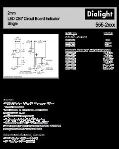 Dialco Dialight - 555-2303 - Led. Lamp, Green 2mm Right Angle, 5V, 4.7mA