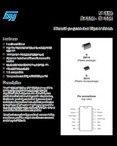 ST Microelectronics - NE556N - IC, timer. Dual 555. New.