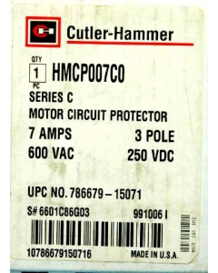 Westinghouse - HMCP007C0 - 21-70Amp Adjustable 3-Ph Motor Circuit Protector