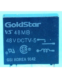 GOLDSTAR - VS-48MB - Relay, DC. SPST. TV-5, 16Amp 48VDC.