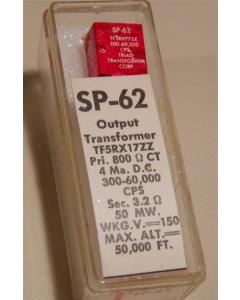 Triad/Magnetek - SP62 - AUDIO XFMR 800ohm:3.2ohm 50mW