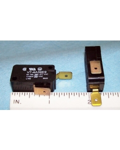Honeywell/Microswitch - V7-4A39E9 - Premium Miniature Basic Switch, Snap Action Pin Plunger, SPST NC 5A 125V.