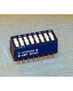 AMP INC - 2-435668-8 - Switch, dip. Contacts: SPST 8P low profile.