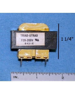 Triad/Utrad - F28-200V - Transformers. Dual 14V 0.2Amp.
