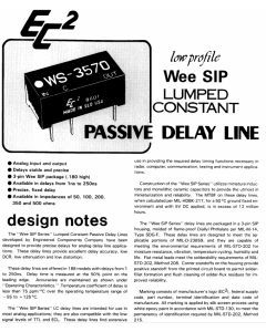 Engineering Components Co  EC2-  WS-2060 - Passive Delay Line, SIP.