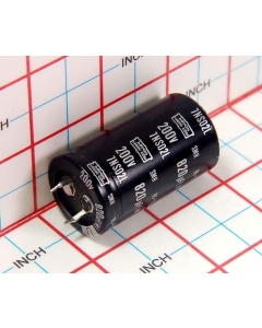 United Nippon Chemi-Con - 7NS02L - CAP287 - 820UF 200VDC New snap-in  Electrolytic Capacitor.