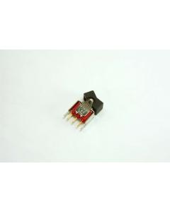 C & K Components - 7108J1V3BE - Switch, rocker. SPDT 0.4VA.