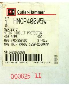 EATON - CUTLER-HAMMER - HMCP400W5W - Circuit Breaker, Motor Circuit Protector, 3 Pole 400Amp 600VAC/250VDC.