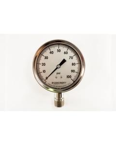Ashcroft - 35-1009SW-04L 100# - Gauge, pressure. 0-100PSI.