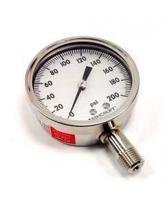 Ashcroft - 25-1009SW-02L 200# - Gauge, pressure. 0-200PSI.