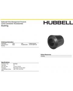 HUBBELL - 315-18-118B - Hardware, Bushing. (F3) 0.625 - 0.750