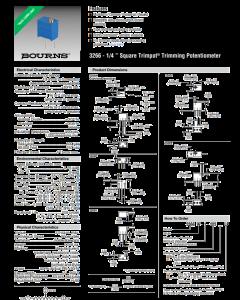 BOURNS - 3266W-001-501 - Resistor, trimming. 500 Ohm 0.25W.