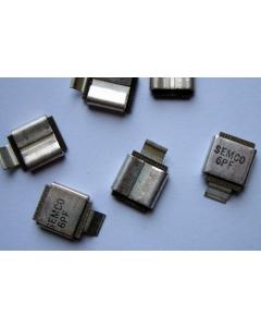 SEMCO - MCM01-001D6R5D-F - Capacitor, Mica. 6.5pF. Medal Clad  SMD RF.