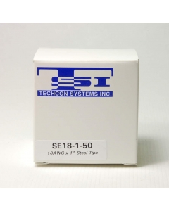 Techon Systems - SE18-1-50 - SS blunt dispensing tips, 18AWG. Package of 50.