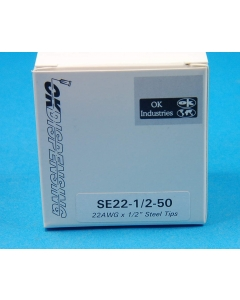 Techon Systems - SE22-1/2-50 - SS dispensing tips, 22AWG. Package of 50.