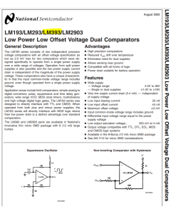 National Semiconductor Corp - LM393AJ - IC. Dual differential comparator. 8 Cdip.