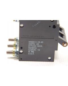 Potter & Brumfield - W93X11-10-40 - 3-Pole 40Amp 277VAC Circuit Breakers