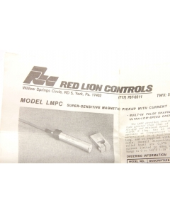 RED LION CONTROLS - LMPC0000 - Sensor, proximity. Tubular.