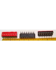 C & K Components - SD08H0K - Switch, dip. Contacts: SPST 8P.