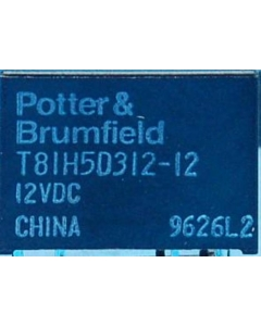 Potter & Brumfield - T81H5D312-12 - Relay, power. DC. SPDT 12VDC 1Amp.