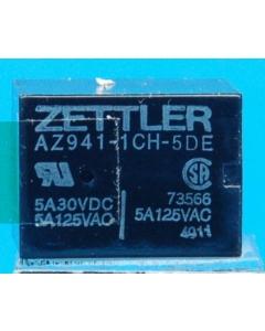 American Zettler - AZ941-1CH-5DE - NEW DIP RELAYS