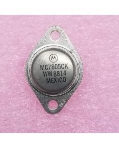 Motorola - MC7805CK - Voltage regulator. Positive 5V 1.5Amp.  TO-204 Steel