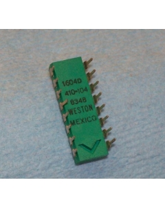 WESTON ELECTRIC - 1604D/410-104 - 4-position rotary dip switch