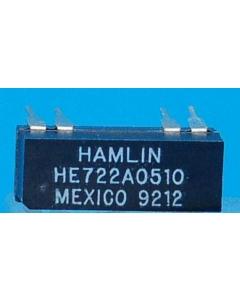 Hamlin - HE722A05-10 - Relay, reed. SPST-NO 5V 250mA.